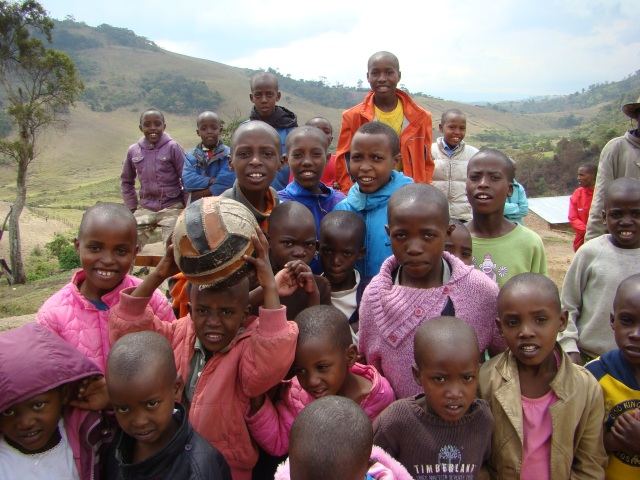 children from Emmanuel centre in high plateau near Marungu