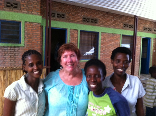 Three of the mamas at New  Hope children's centre and Mary anne.